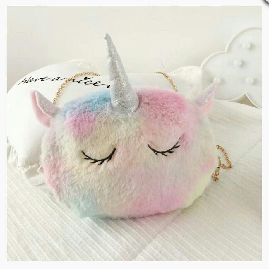UNICORN SLING BAG PLUSH